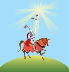 Brave knight vector