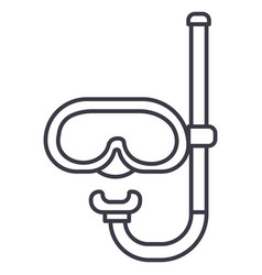 diving mask line icon sign vector image vector image