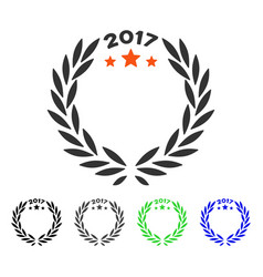 2017 laurel wreath flat icon vector