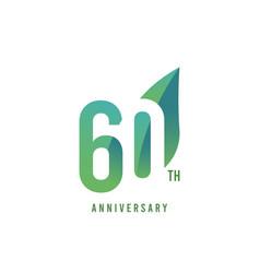 60 th anniversary logo template design vector