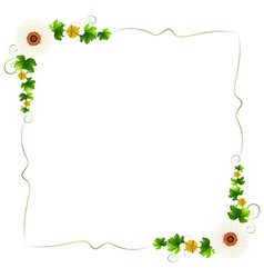 A floral border vector image