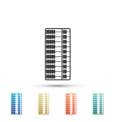 abacus icon isolated on white background vector image