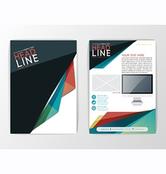 Abstract Background Business design brochure vector image vector image