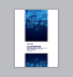 Abstract blue and white cover vector