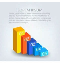 Abstract Creative concept background Infographic vector image