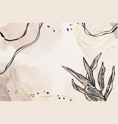 abstract dusty pink and grey liquid watercolor vector image