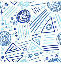 abstract marker indigo color lines seamless vector image