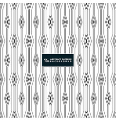 abstract stripe line of square diamond pattern vector image