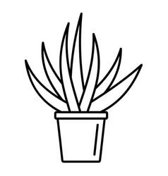 aloe housepot icon outline style vector image