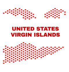 american virgin islands map - mosaic of valentine vector image