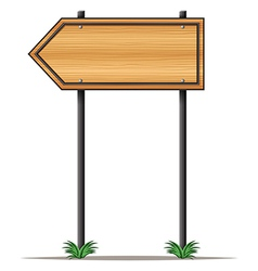 An empty arrowboard vector image