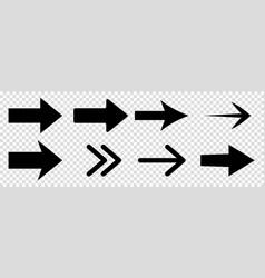 arrow icons black arrows vector image