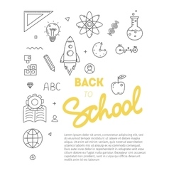 Back to school text with various education icon vector image vector image