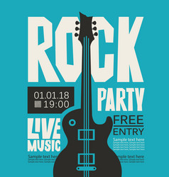 Banner for rock party with live music vector