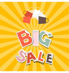 Big Sale Paper Title on Retro Orange - Yellow vector image