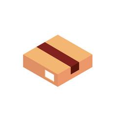 box correspondence postal mail isometric vector image