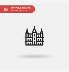 Brussels town hall simple icon vector