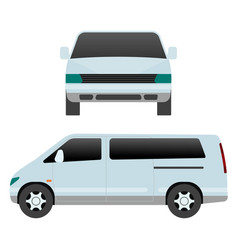 Car vehicle mini van transport type design travel vector