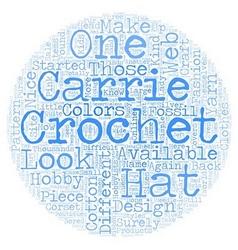 carrie crochet text background wordcloud concept vector image