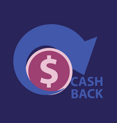 cash back sale banner template design big sale vector image