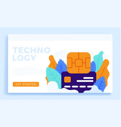 chip and credit card stock isolated on a white vector image