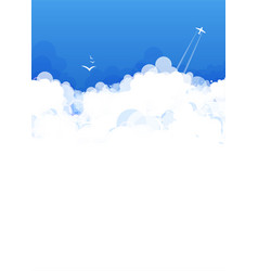 cloud theme background vector image
