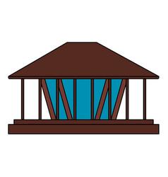 Color image cartoon wooden lamp decorative vector