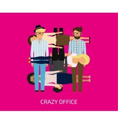 Crazy office vector image