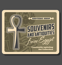 Egypt souvenirs and antiquities shop vector