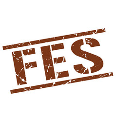 Fes brown square stamp vector