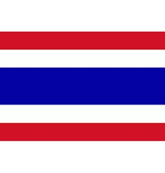 Flag of the Thailand vector