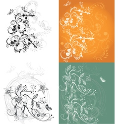 Floral Vines Background vector image