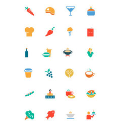 Food and drinks colored icons 2 vector