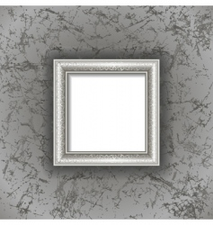 frame on textured background vector image