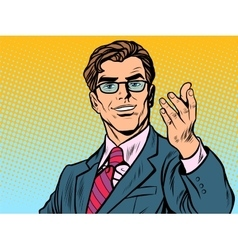 Friendly man businessman vector image