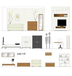 Furniture design living room interior vector