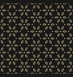 geometric gold and black seamless luxury pattern vector image