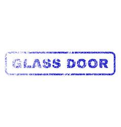 Glass door rubber stamp vector