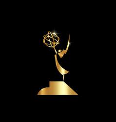 Golden stars prize concept silhouette statue icon vector