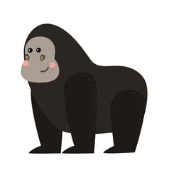 gorila monkey rare animal vector image