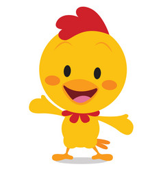 Happy chick art vector
