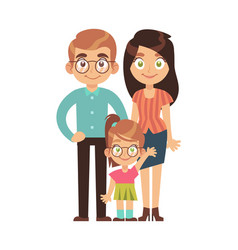 happy family parents with child mom dad vector image
