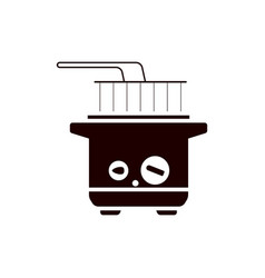 Home deep fryer for cooking french fries vector