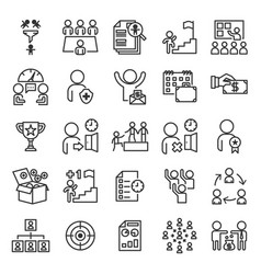 Human resources information system icon set vector