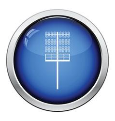 Icon of football light mast vector