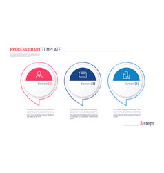 Infographic process chart template three vector
