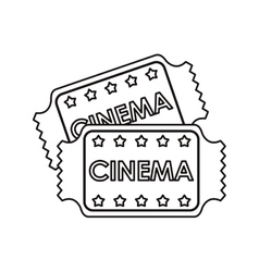 Isolated cinema tickets design vector