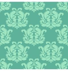 Light green seamless damask pattern vector