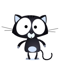 lucky black cat vector image