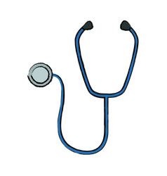 Medical stethoscope diagnosis equipment icon vector